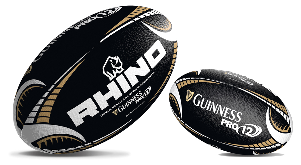 Guinness Pro12 Black Supporters Rugby Ball