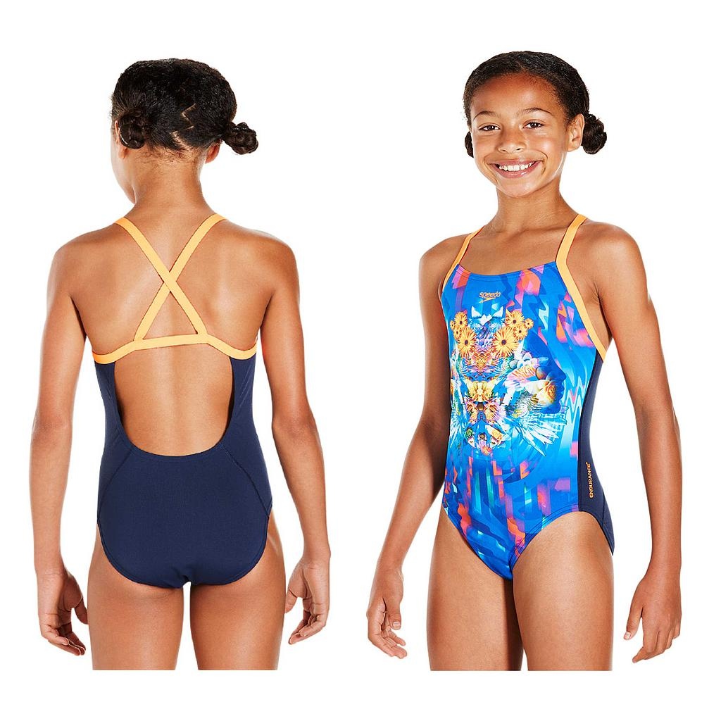 Speedo Dreamscape Fusion Placement Crossback Swimsuit Teen