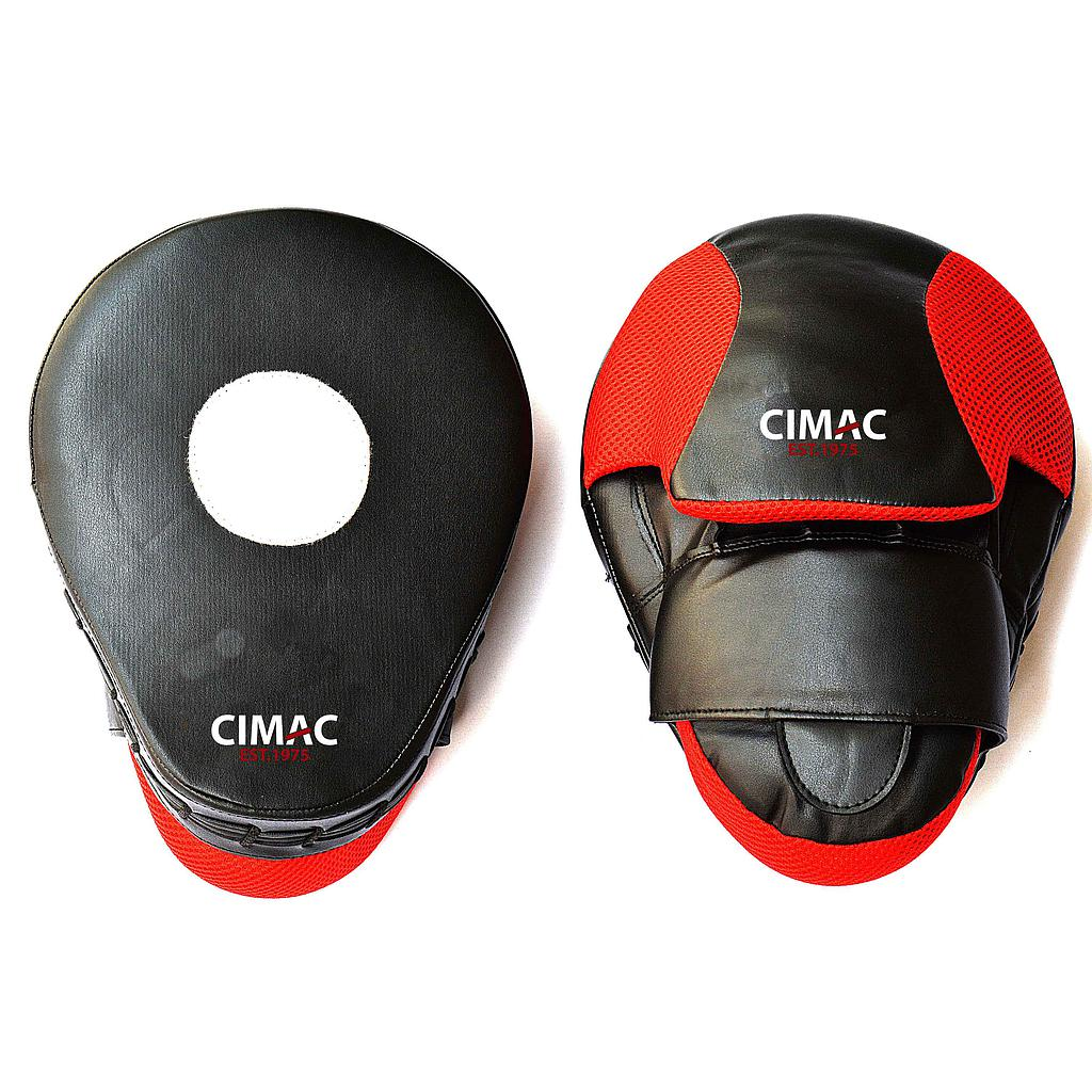 "Cimac Curved Focus Mitts 10"" Black/Red"